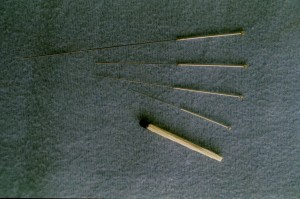 acupuncture needles compared with match stick